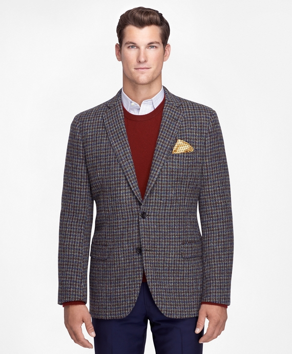 Fitzgerald Fit Harris Tweed Houndstooth Sport Coat Sage