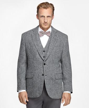 Madison Fit Harris Tweed Herringbone Sport Coat