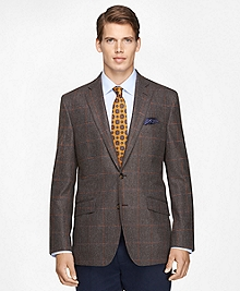 Regent Fit Large Plaid Sport Coat
