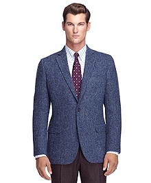 Fitzgerald Fit Harris Tweed Crow's Feet Pattern Sport Coat