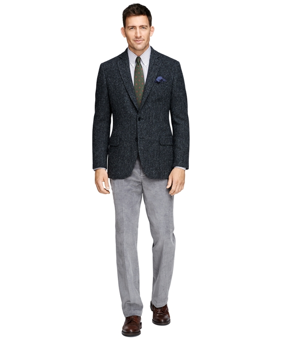 Men's Fitzgerald Fit Harris Tweed Charcoal Sport Coat | Brooks