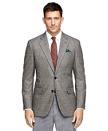 Madison Fit Saxxon® Wool Plaid Sport Coat
