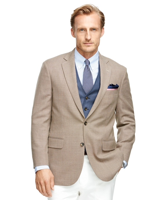 Madison Fit Two-Button Wool Sport Coat Tan