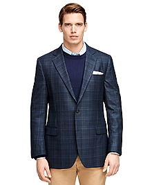 Fitzgerald Fit Saxxon Wool Plaid with Windowpane Sport Coat