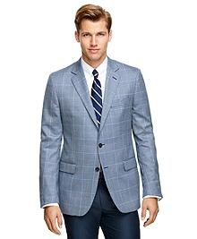 Fitzgerald Fit Saxxon Wool Check with Windowpane Sport Coat