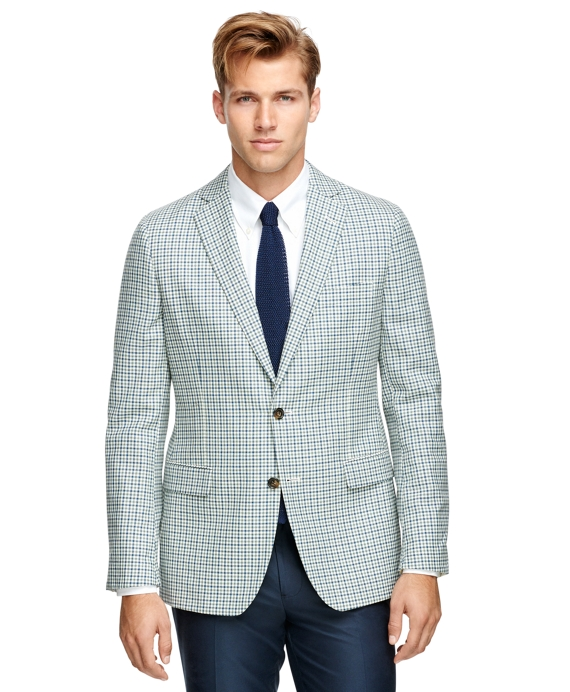Fitzgerald Fit Check Sport Coat Green-White