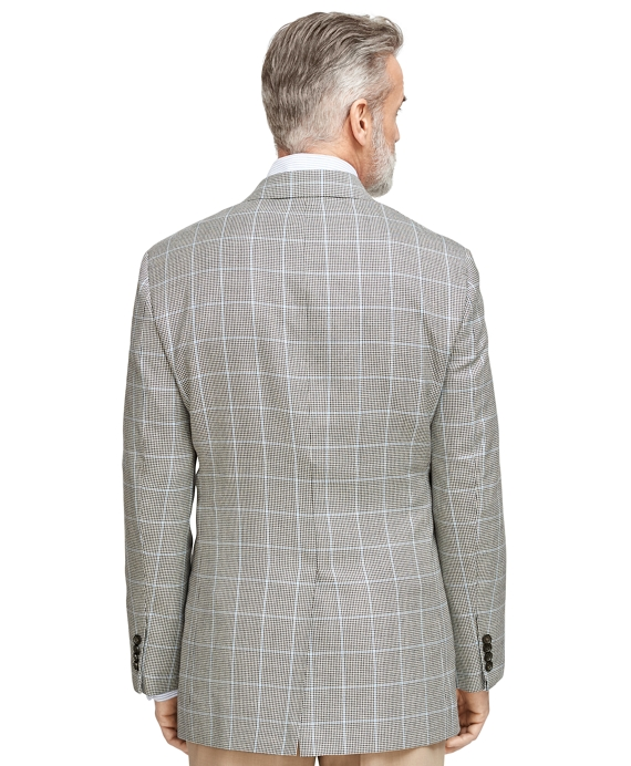 Men's Regular Fit Checkered Windowpane Sport Coat | Brooks Brothers