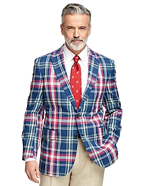 Madison Fit Madras Sport Coat