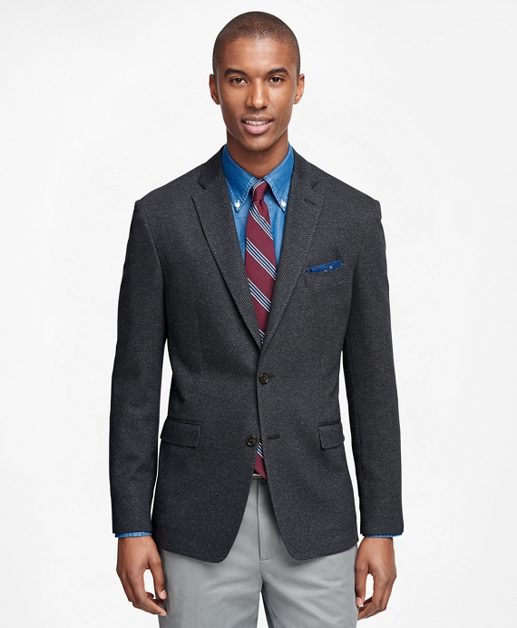 Men's Extra Slim Fit Charcoal Herringbone Sport Coat | Brooks Brothers