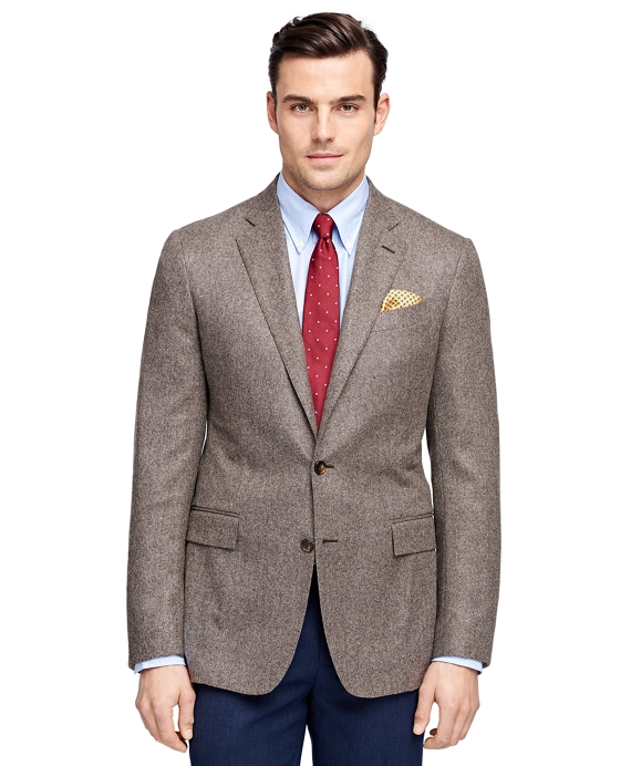 Men's Slim Fit Two-Button Light Brown Sport Coat | Brooks Brothers
