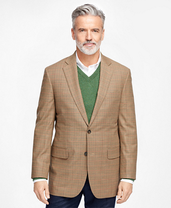 Madison Fit BrooksCool® Check with Deco Sport Coat