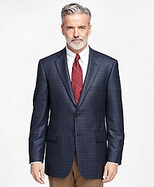 Madison Fit Saxxon Wool Plaid Sport Coat