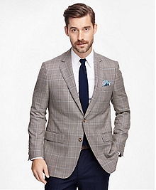Fitzgerald Fit Saxxon Wool Plaid with Deco Sport Coat