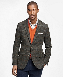 Fitzgerald Fit Harris Tweed Plaid with Windowpane Sport Coat