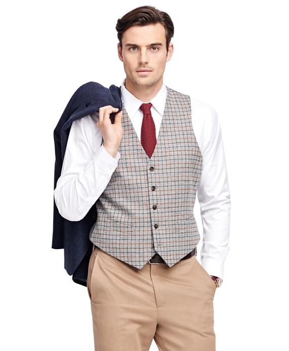Multi Tattersall Vest Grey