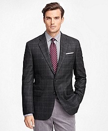 Madison Fit Saxxon Wool Multi Windowpane Sport Coat
