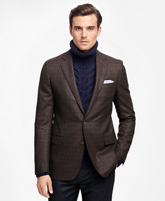 Fitzgerald Fit Saxxon Wool Multi Check Deco Sport Coat