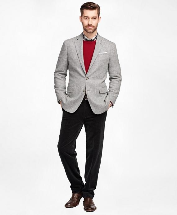 Men's Slim Fit Light Grey Herringbone Sport Coat | Brooks Brothers