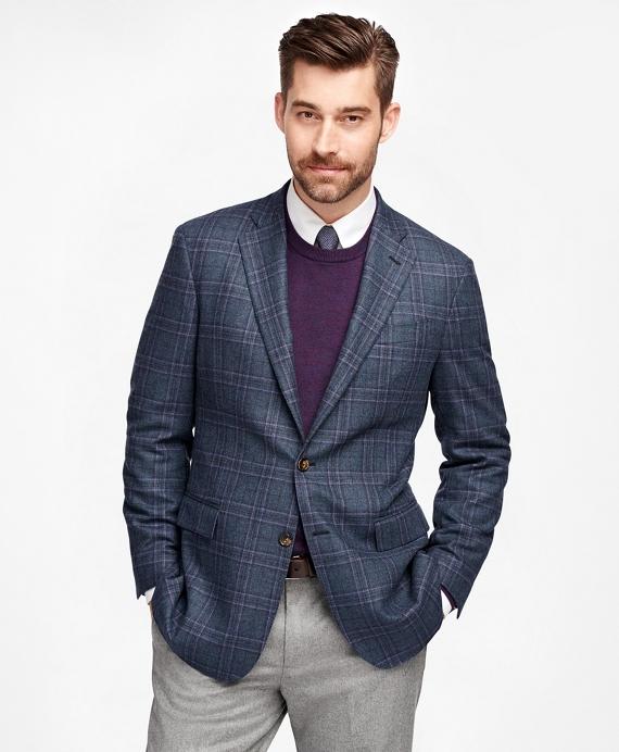 Regent Fit Plaid with Deco Sport Coat Blue