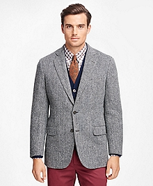 Madison Fit Harris Tweed Herringbone Sport Coat