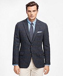 Fitzgerald Fit Harris Tweed Tic with Windowpane Sport Coat