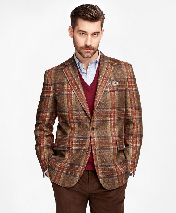 Own Make Red Plaid Sport Coat Red