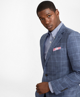 Fitzgerald Fit Saxxon Summer Plaid Sport Coat