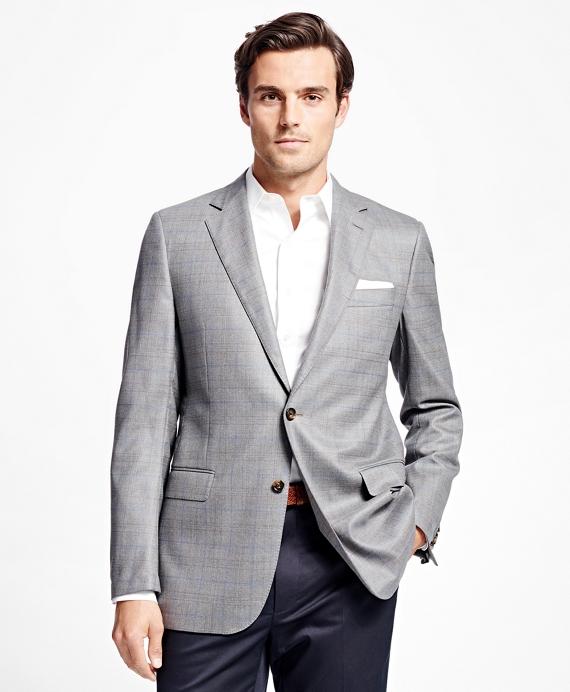 Fitzgerald Fit Saxxon Wool Windowpane Sport Coat Grey