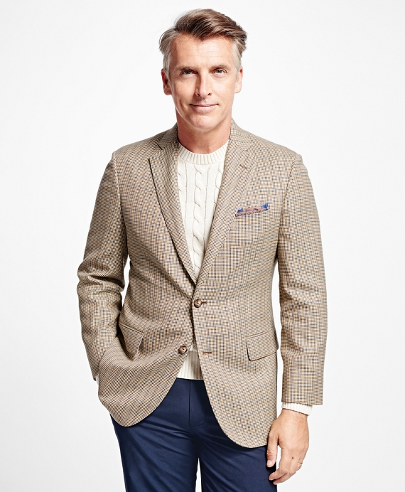 Madison Fit Houndstooth with Deco Sport Coat Brown