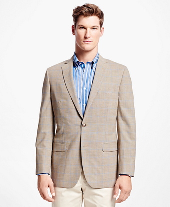 Fitzgerald Fit BrooksCool® Mini Houndstooth with Windowpane Sport Coat