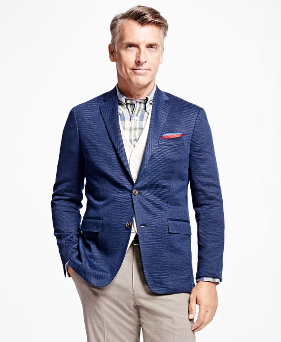 Milano Fit Crowfoot Sport Coat Navy