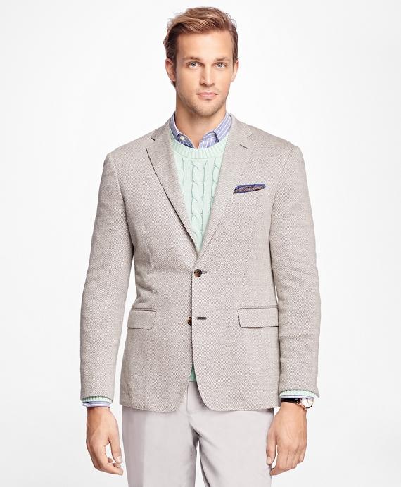 Milano Fit Herringbone Sport Coat Grey
