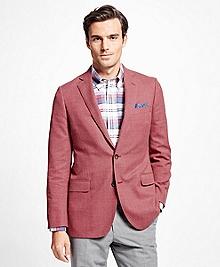 Fitzgerald Fit Red Hopsack Sport Coat