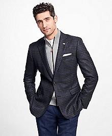 Regent Fit Saxxon Wool Check with Windowpane Sport Coat