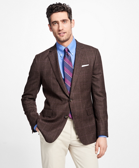 Regent Fit Tic with  Multi Windowpane Sport Coat