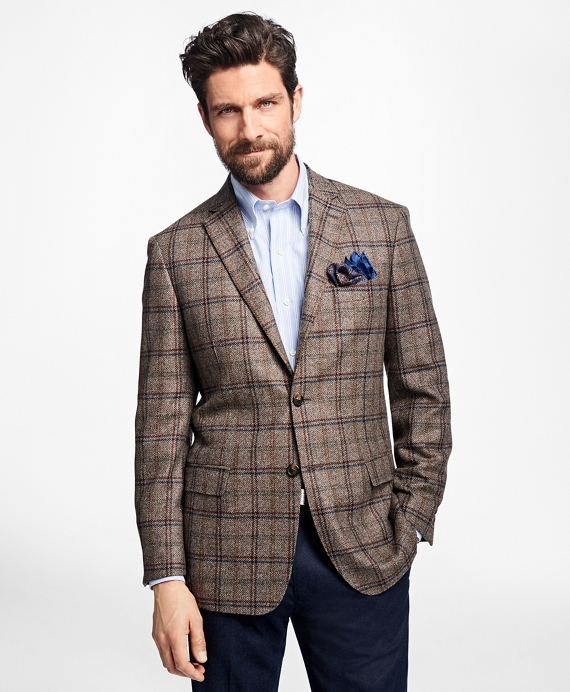 Milano Fit Multi-Windowpane Sport Coat Taupe