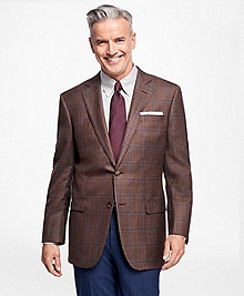 Madison Fit Saxxon Wool Plaid with Deco Sport Coat