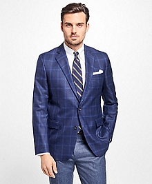 Regent Fit Saxxon Wool Windowpane Sport Coat