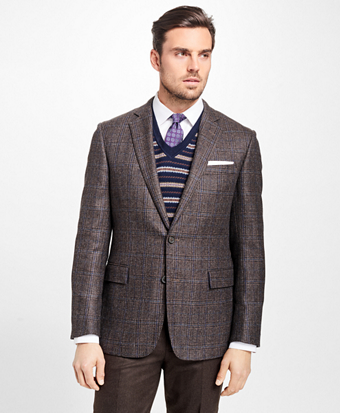 Regent Fit Windowpane Sport Coat