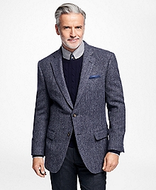Madison Fit Blue  Herringbone Sport Coat