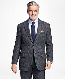 Madison Fit Charcoal  Herringbone Sport Coat
