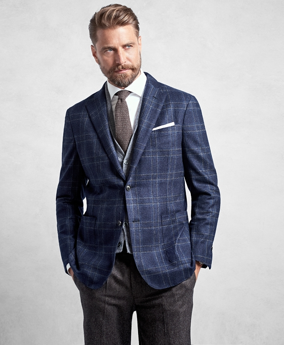 Golden Fleece® Blue Plaid Sport Coat Blue