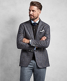 Golden Fleece® Brown Multi-Check Sport Coat