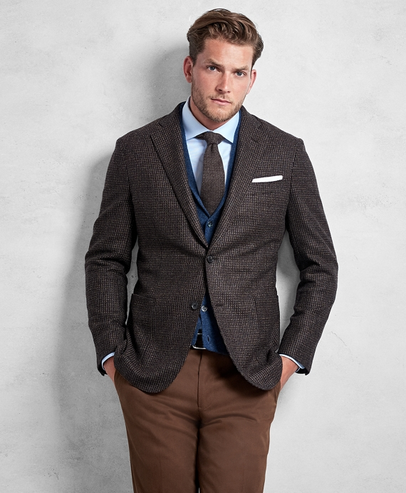 Golden Fleece® Brown Rust Texture Sport Coat Brown