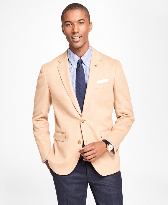 Milano Fit Herringbone Sport Coat Camel