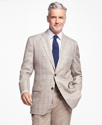 Madison Fit Tan Windowpane Sportcoat