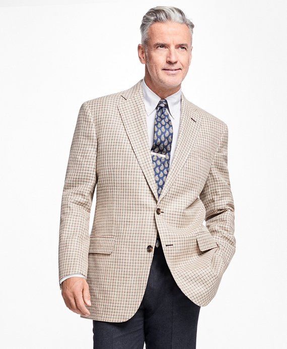 Madison Fit Olive and Brown Multi Check Sportcoat Olive
