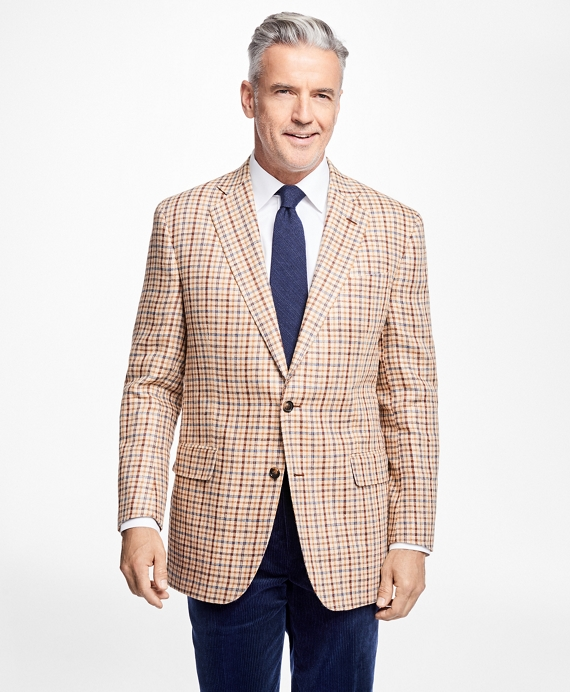 Madison Fit Windowpane Sportcoat Tan