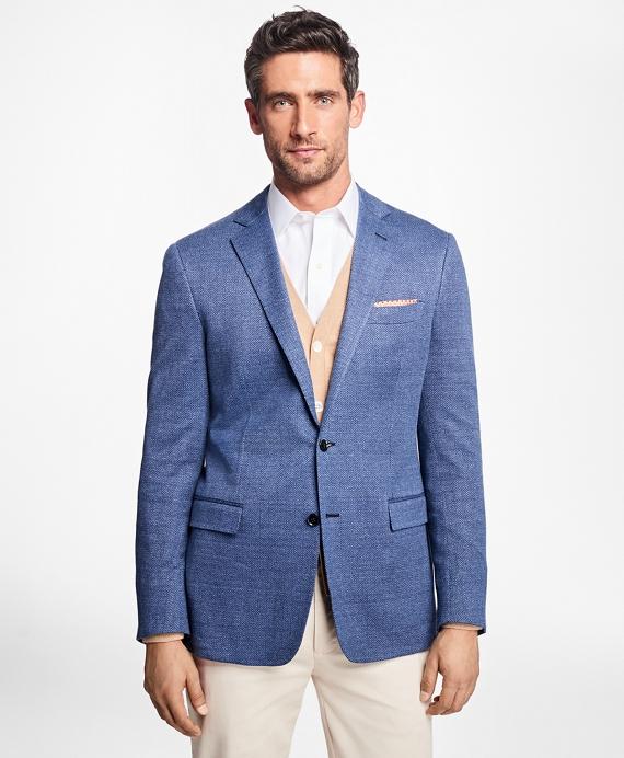 Regent Fit Herringbone Sport Coat Blue