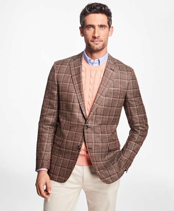 Regent Fit Brown Plaid Sport Coat
